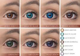 Acuvue Contacts Color Chart Guide To Coloured Contact Lenses Clearly
