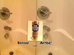 red stains in shower charming hard water stain removal s images the how to remove red
