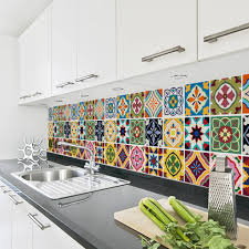 talavera tile decal sticker set pack of 24 furnishings fittings