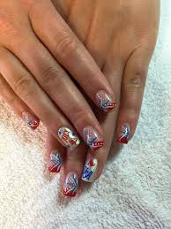 Gel Nail Designs For 4th Of July Fourth Of July Gel Nails Mountain Prairie Nail Designs Gel