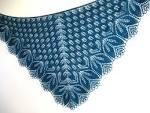 Описание схем вязания спицами шалей