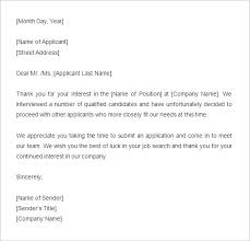 27 Rejection Letters Template Hr Templates Free Premium
