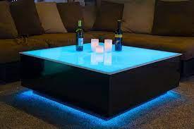 cube led coffee table led furniture
