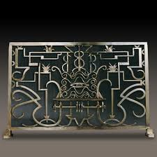Art deco fireplace screen Single Panel French Art Deco Fireplace Screen Kramer Design Studio Custom Design And Fabrication Of Fine Kramer Design Studio Custom Design And Fabrication Of Fine
