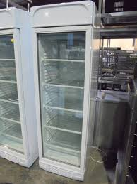 new b grade stirling pro vf372 white upright single glass door display freezer 65cmw x 65cmd x 205cmh
