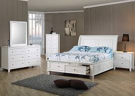 White full storage bed Simple White Selena White Full Storage Bed Wdresser Mirror Drawer Chestcoaster Furniture Beacon Furniture Beacon Furniture Grand Cayman Selena White Full Storage Bed