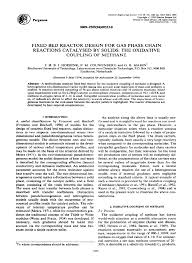 Fixed Bed Reactor Design Pdf Fixed Bed Reactor Design For Gas Phase Chain Reactions