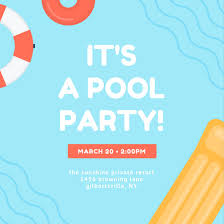 swimming pool beach ball background. Awesome Swimming Pool Beach Ball Background Fireplace Style In Canva  Skyblue Lifebuoy Waves Pool Party Invitation Swimming Beach Ball Background