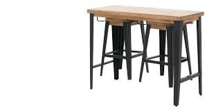 bar stool table sets a bar table and stool set in mango wood and black