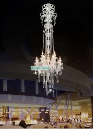 most popular 205cm long big chandelier e14 led lamps modern large luxury crystal in long hanging