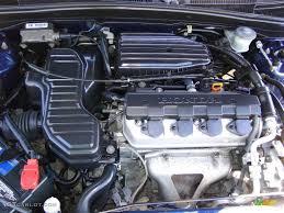 2003 Honda Civic LX Coupe 1.7 Liter SOHC 16V 4 Cylinder Engine ...