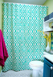 Perfect Diy Shower Curtain Ideas Stenciled To Beautiful Design