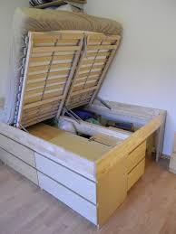 ikea storage bed. Delighful Ikea IKEA Hackers Malmus Maximus Hacking MALMs And LERBCK Into Storage Bed  Perfect For My Needs One Side Dresser One Will Hold Plastic Storage With Ikea Storage Bed