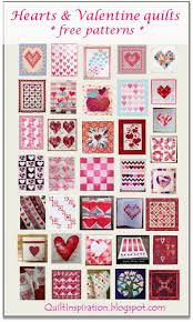 Quilt Inspiration: Free pattern day: Hearts and Valentines & I Heart You mini quilt, 10 x 20