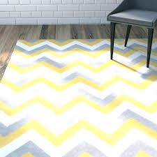 rug yellow gray chevron gray
