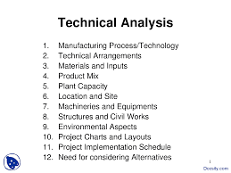 Technical Analysis Project Management Lecture Slides Docsity