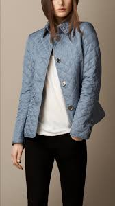 Burberry Diamond Quilted Jacket in Blue | Lyst & Gallery. Women's Quilted Jackets Adamdwight.com