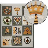 BLESSED BEE QUILT PATTERN-Applique Quilts-Patterns & BLESSED BEE QUILT TOP KIT Adamdwight.com