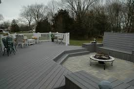Composite Decking Vs Deck Modern With Vinyl Decks Backyard Court