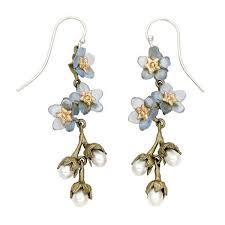 michael michaud earrings forget me not triple flower pearl dangle the websters in ashland oregon