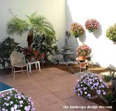 small enclosed courtyard garden