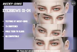 becky-sims — BECKYSIMS-MALE EYEBROWS 1-4 24 COLORS 24改色...