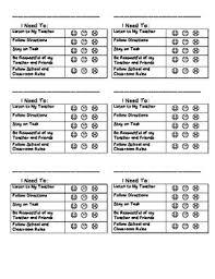 2nd Grade Behavior Chart Behavior Chart 2nd Grade