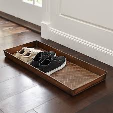 Decorative Boot Tray Need a space to wipe your boots Crate and Barrel has a variety of 53