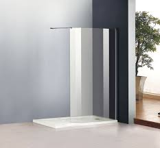 1200X800mm Walk In Shower Enclosure Cubicle Curved Glass Screen