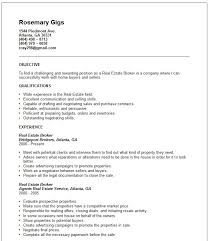 Resume Sample For Real Estate Agent Real Estate Resume Sample