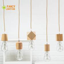 Wooden Pendant Light Fixtures Us 8 84 53 Off Wooden Pendant Lights E27 Wood Pendant Lamp For Home Living Room Decor Natural Color Vintage Hanging Lights Modern Light Fixture In