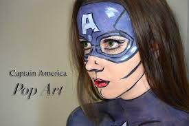 capn america pop art ic book costume makeup tutorial