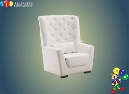 white leather baby shower chair