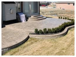 Stunning Concrete Patio Designs Backyard Patio Ideas On Home Depot
