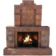 pavestone rumblestone 84 in x 38 5 in x 94 5 in outdoor stone fireplace