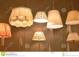editorial stock photo lamps and lighting