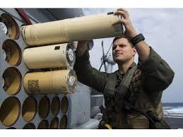 Naval Aircrewman Loads Sonobuoys On An Mh 60r Seahawk Poster Print 17 X 11