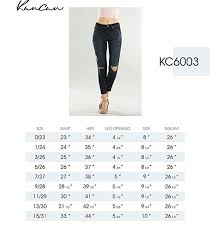 Kancan Jean Size Chart Kan Can Womens Mid Rise Super Skinny Jeans Distressed Kc6003
