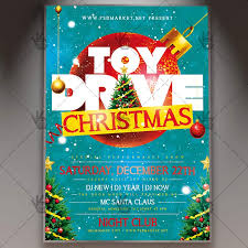 Food Drive Flyers Templates Holiday Toy Drive Flyer Psd Template