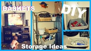 Easy Cheap DIY Basket Ideas   Storage U0026 Decor   YouTube