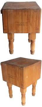 Kitchen Chopping Block Table How To Sterilize An Antique Butcher Block Table Cases Tables