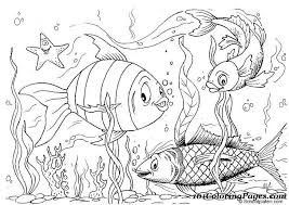 Small Picture Fish Coloring Pages To Print Coloring Coloring Pages