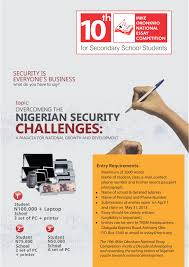 mike okonkwo essay competition for ian secondary schools essay 2013