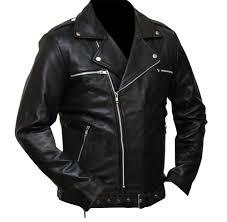 details about the walking dead negan jeffrey dean morgan black leather jacket all sizes