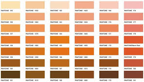 Pantone Colour Chart Ochre Between Earth And Rose