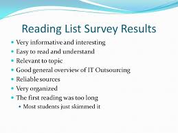outline reading list pros and cons reading list survey results  5 reading