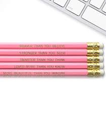 Winnie The Pooh Quote Inspirational Pencils