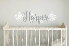 fancy name wall decal baby name with
