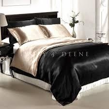 silk bed sheets queen king size satin reversible doona quilt duvet cover silk feel