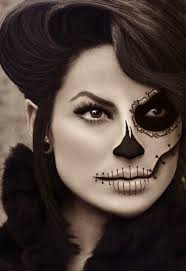 day of the dead half face makeup festivalvidaymuerte mayanexplore